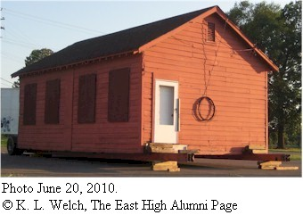One-room schoolhouse, photographed June 20, 2010, (c) K.L. Welch, The East High Alumni Page