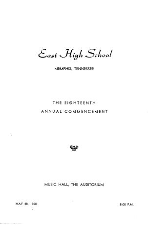 Commencement Program, cover page