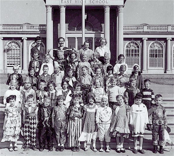 One of Mrs. Trenor's kindergarden classes, 1955-56, with members of the Class of 1968