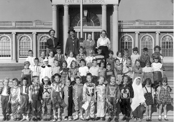 Class of 1968 in kindergarten (morning sessions).