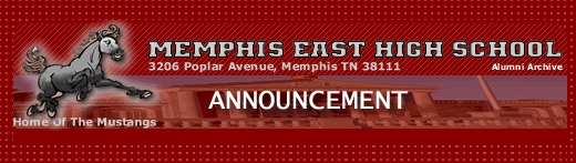 "A web page banner for ""East High School Alumni Archive"""